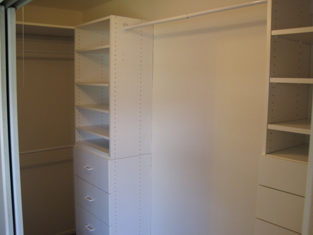 Master closet with Builtins
