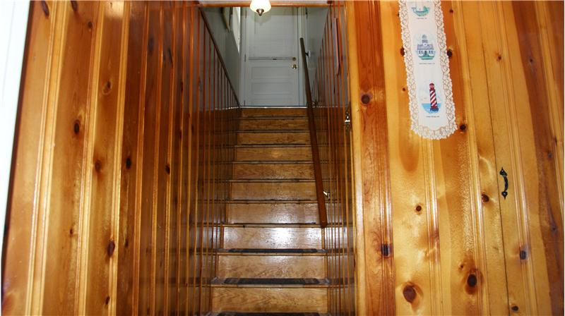 Stairs from basement to outside entrance
